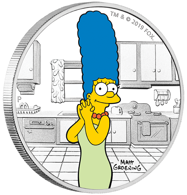 Stříbrná mince Simpsonovi - Marge 1 oz proof 2019
