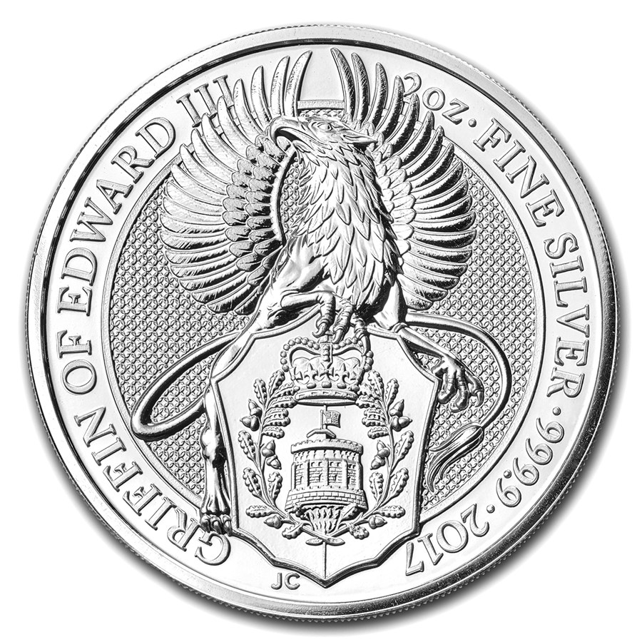 Stříbrná mince The Queen's Beasts Griffin of Edward III. 2 oz