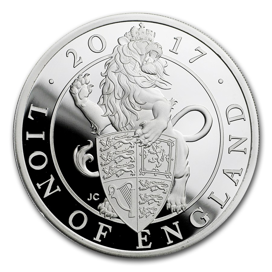 Stříbrná mince The Queen's Beasts The Lion of England 1 oz Proof 2017