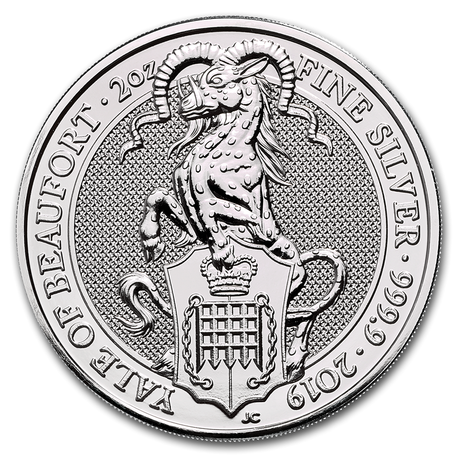 Stříbrná mince The Queen's Beasts Yale of Beaufort 2 oz