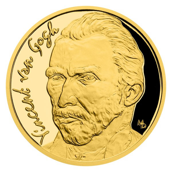 Zlatá mince Vincent van Gogh 1/2 oz proof 2020