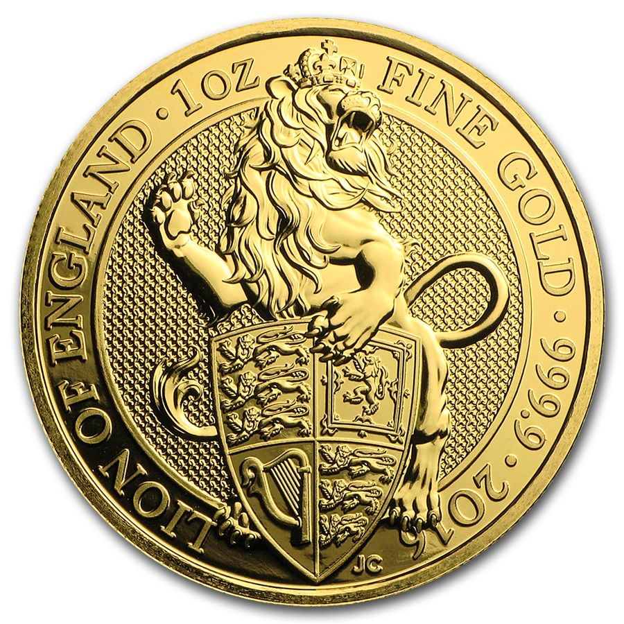 Zlatá mince The Queen's Beasts The Lion of England 1 oz