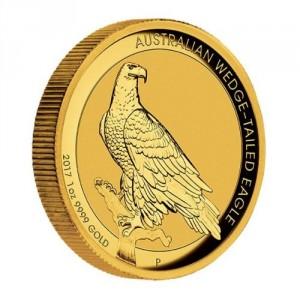 Zlatá mince Orel klínoocasý 1 oz vysoký reliéf 2017
