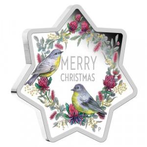 Stříbrná mince Vánoční hvězda 1 oz proof 2020