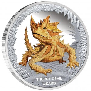 Stříbrná mince Moloch ostnitý 1 oz proof 2014