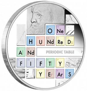 Stříbrná mince Periodická tabulka prvků 1 oz proof 2019