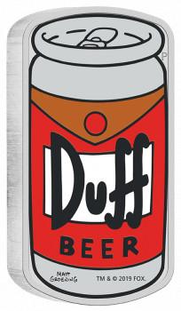 Stříbrná mince Simpsonovi - Duff Beer 1 oz  2019