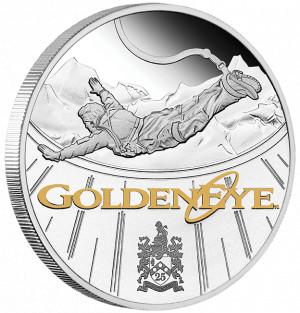 Stříbrná mince James Bond - GoldenEye 1 oz proof 2020