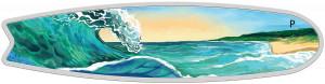 Stříbrná mince Surf 2 oz kolorovaná 2020