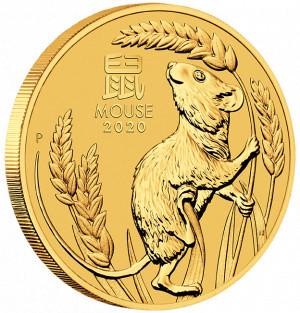 Zlatá mince Rok Myši 1 oz BU 2020 Lunární série III