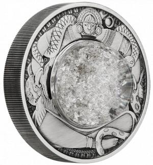 Stříbrná mince Měsíční slzy 2 oz antique finish 2021