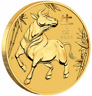 Zlatá mince Rok Buvola 1 oz BU 2021 Lunární série III