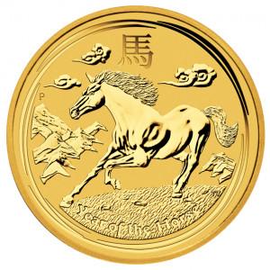 Zlatá mince Rok Koně 1/2 oz BU 2014 Lunární série II