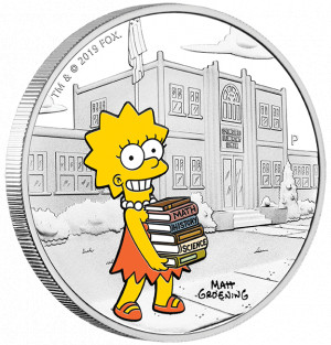 Stříbrná mince Simpsonovi - Lisa 1 oz proof 2019