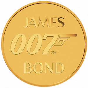 Zlatá mince James Bond 007 0,5g 2020 v kartě