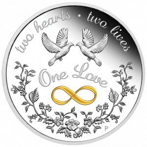 Stříbrná mince One Love 1 oz Proof 2021