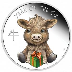 Stříbrná mince Rok Buvola Baby 1/2 oz proof 2021