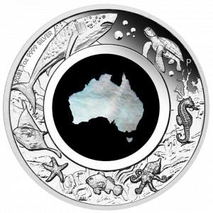 Stříbrná mince Great Southern Land 1 oz proof perleť 2021
