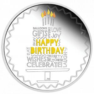 Stříbrná mince k narozeninám 1 oz proof 2021
