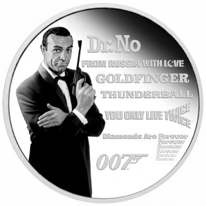 Stříbrná mince James Bond - Sean Connery 1 oz proof 2021