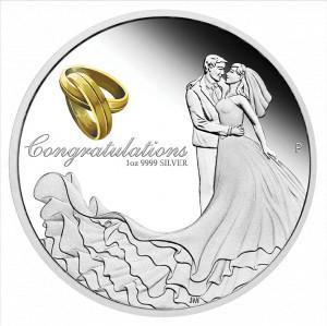 Stříbrná mince Svatba 1 oz proof 2021
