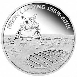 Stříbrná mince Přistání na Měsíci 1969-2019 1 oz 2019