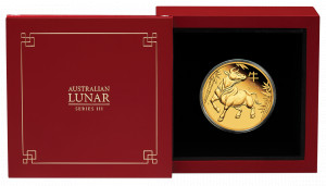 Zlatá mince Rok Buvola 1 oz proof 2021 Lunární série III