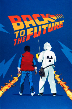 Stříbrný plakát Back To The Future - Marty McFly and Doc Brown 35 g 2021