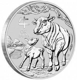Stříbrná mince Rok Buvola 1 oz BU 2021 Lunární série III