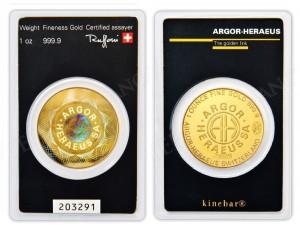 Zlatý investiční slitek Roundbar Kinebar 1 oz Argor-Heraeus