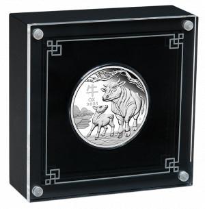 Stříbrná mince Rok Buvola 1 oz proof 2021 Lunární série III