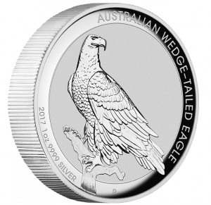 Stříbrná mince Orel klínoocasý 1 oz vysoký reliéf 2017