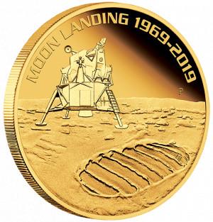 Zlatá mince 50. výročí přistání na Měsíci 1 oz proof 2019