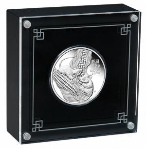 Stříbrná mince Rok Myši 1 oz proof 2020 Lunární série III