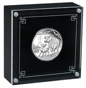 Stříbrná mince Rok Buvola 1/2 oz proof 2021 Lunární série III