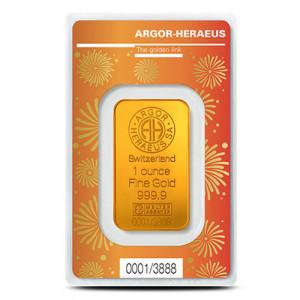 Zlatý investiční slitek Rok Buvola 2021 1 oz Argor-Heraeus