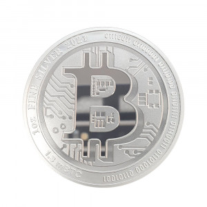 Stříbrná mince Bitcoin 1 oz 2021