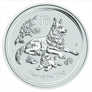 Stříbrná mince Rok Psa 1/2 oz 2018 Lunární série II