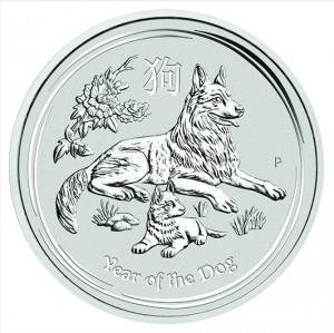 Stříbrná mince Rok Psa 2 oz 2018 Lunární série II