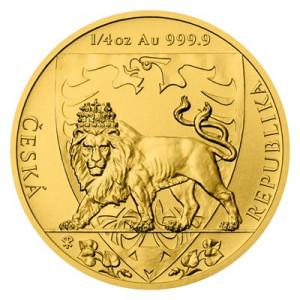 Zlatá mince Český lev 1/4 Oz 2020