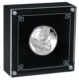 Stříbrná mince Rok Myši 1/2 oz proof 2020 Lunární série III