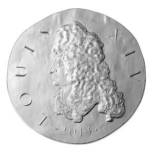 Stříbrná mince Ludvík XIV. proof 2014