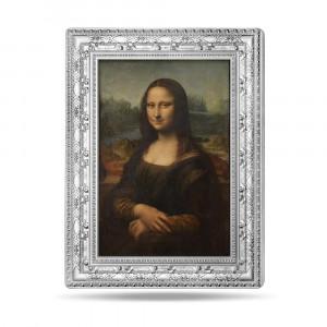 Stříbrná mince Mona Lisa 1/2 kg - Mistrovská díla muzeí