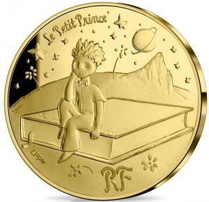 Zlatá mince Malý princ - Kniha 1/4 oz proof 2021