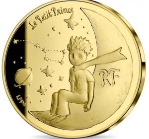 Zlatá mince Malý princ - Měsíc 1/4 oz proof 2021