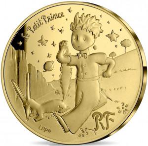 Zlatá mince Malý princ - Liška 1/4 oz proof 2021