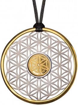 Zlatá mince se stříbrem - Symboly života - Květ života 2020