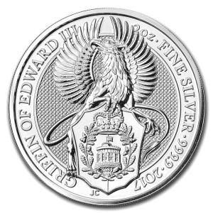 Stříbrná mince The Queen's Beasts Griffin of Edward III. 2 oz