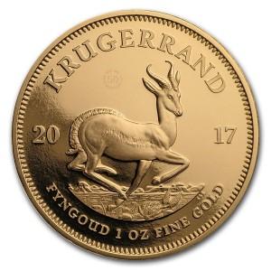 Zlatá mince 50. výročí Krugerrand 1 oz proof 2017