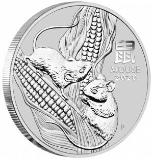 Stříbrná mince Rok Myši 1 oz BU 2020 Lunární série III